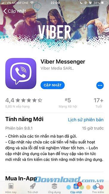 Viber bổ sung tính năng chỉnh sửa tin nhắn đã gửi