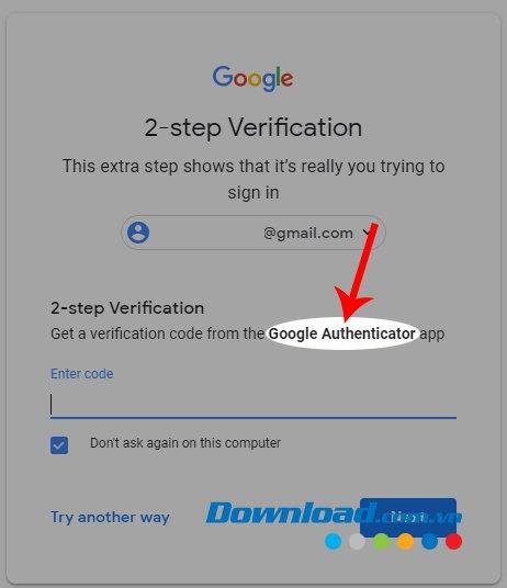 Đăng nhập Gmail bằng ứng dụng Google