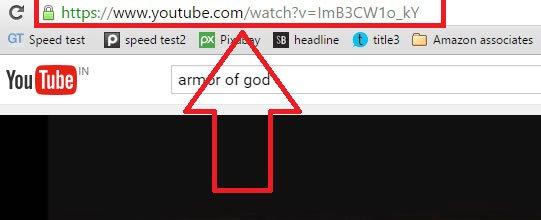 Mở video trên YouTube mà bạn muốn tải file audio và sao chép URL