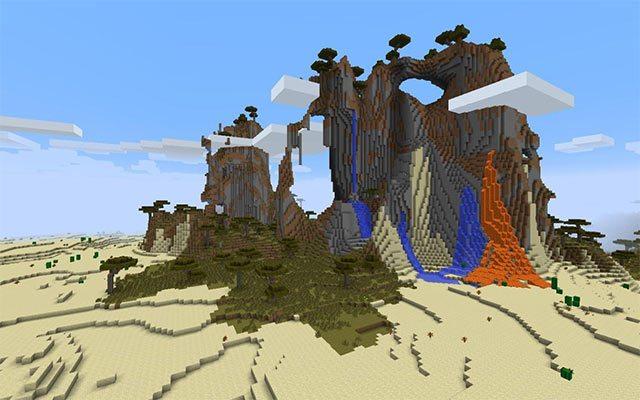 Nham thạch trên ốc đảo sa mạc
