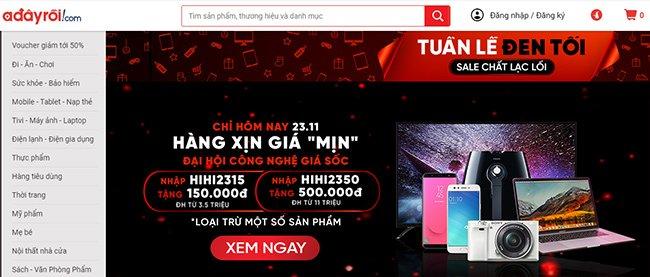 Ứng dụng mua sắm online trên điện thoại