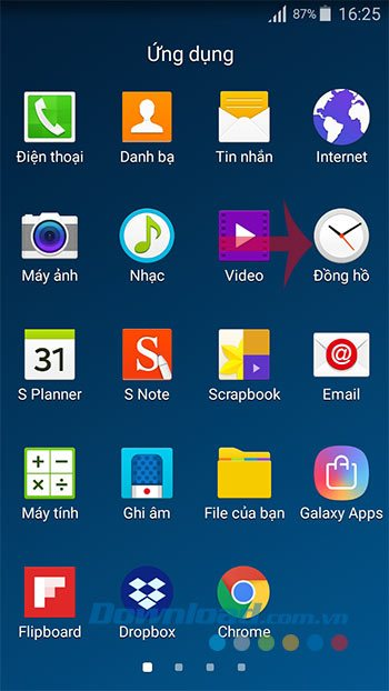 Báo thức Android