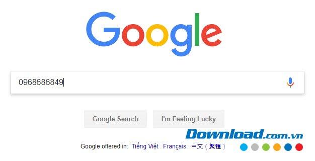 Tìm kiếm thông tin trên Google
