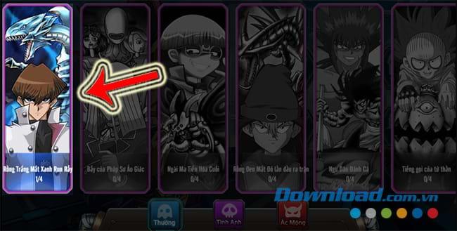 Chọn đối thủ thi đấu trong Yugi H5