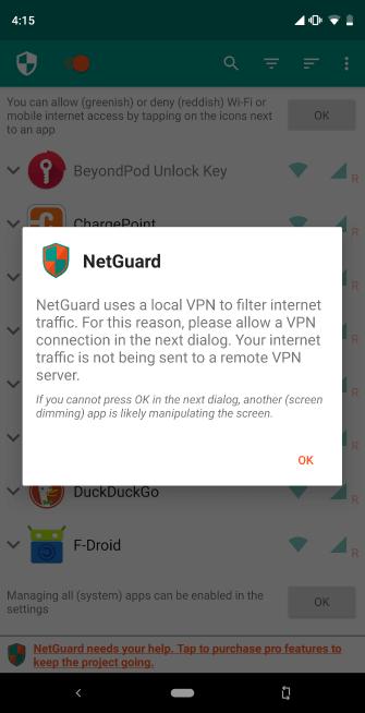 Dùng ứng dụng bên thứ ba chặn truy cập mạng