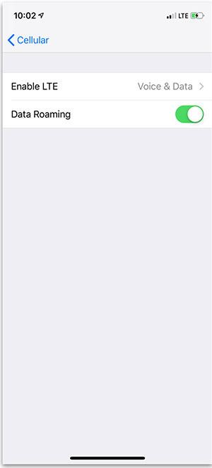 Sửa lỗi mất kết nối trên iPhone