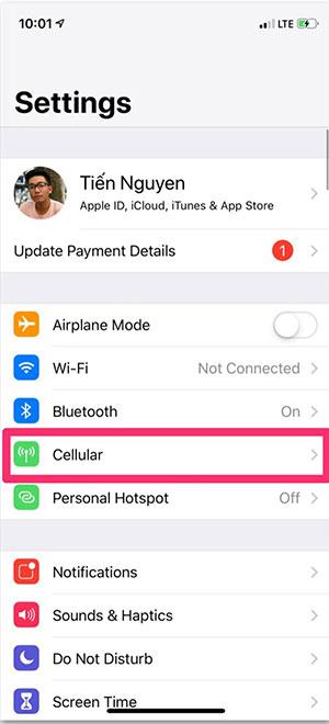 Hướng dẫn sửa lỗi mất kết nối mạng, dữ liệu di động trên iPhone