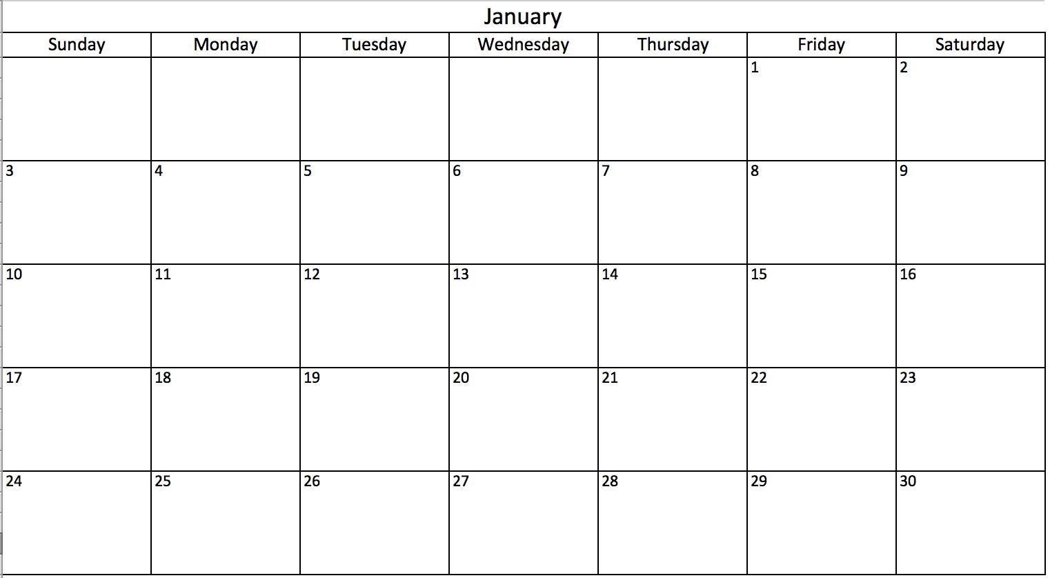 Thêm ngày vào lịch trong Excel