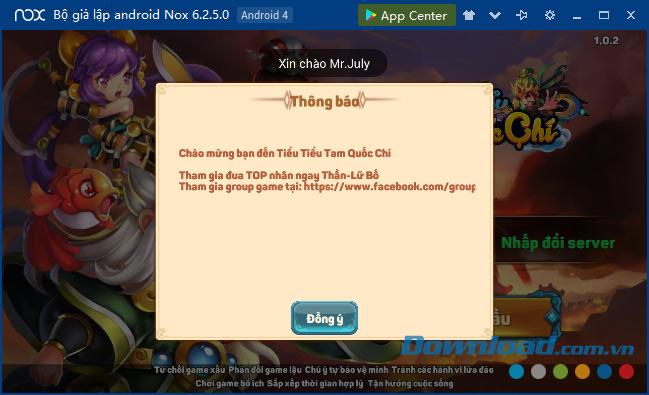 Thông báo của game