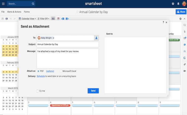 Gửi lịch qua email