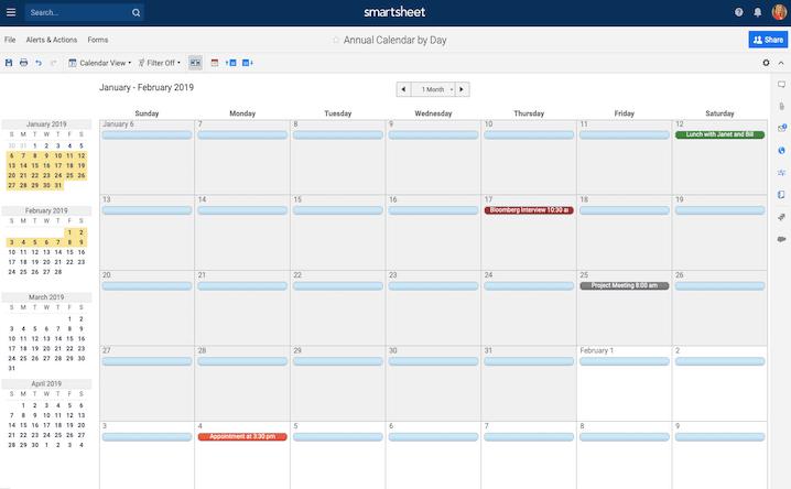 Chuyển sang trình xem lịch