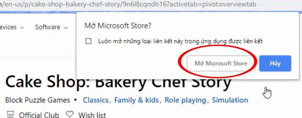 Mở và cài đặt trên Microsoft Store