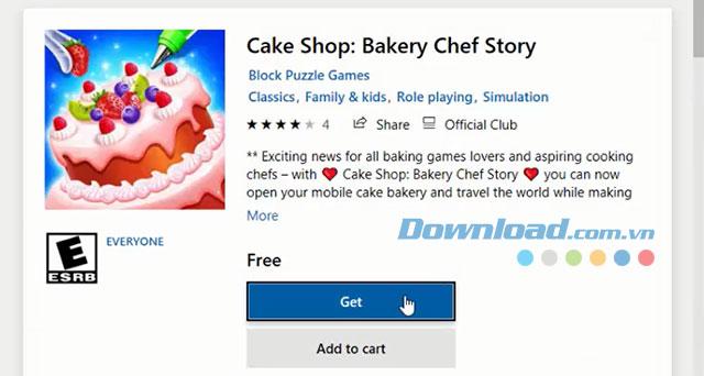 Cài đặt game trên Microsoft Store