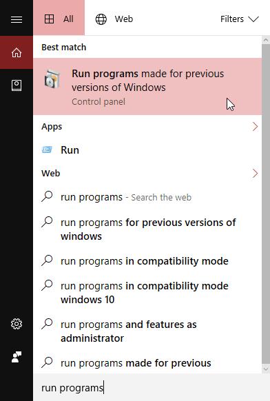 Khắc phục lỗi tương thích trên Windows 10