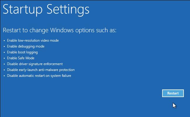 Thiết lập cài đặt khởi động cho Windows 10