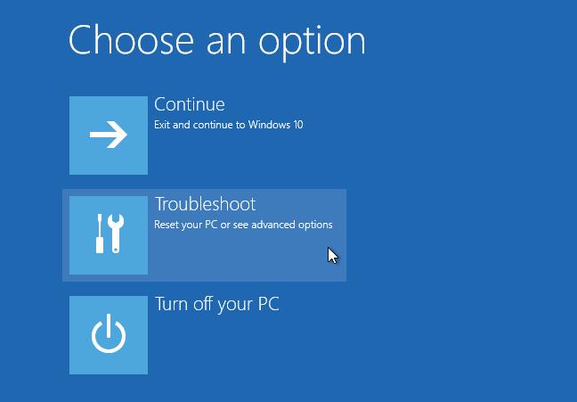 Tùy chọn khởi động nâng cao cho Windows 10