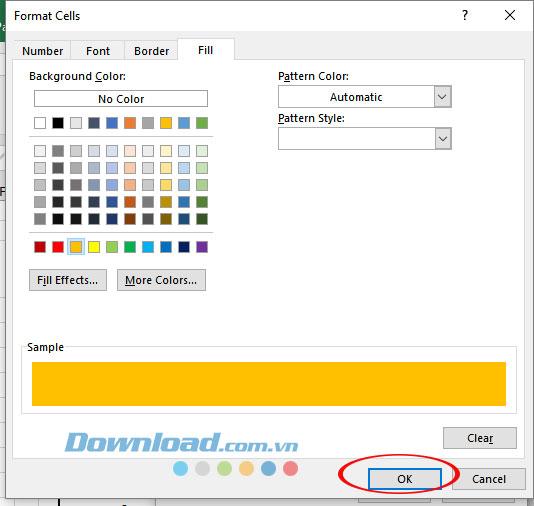 Lựa chọn màu sắc thông báo ngày hết hạn trên hợp đồng
