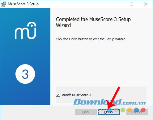 Hoàn tất cài đặt MuseScore