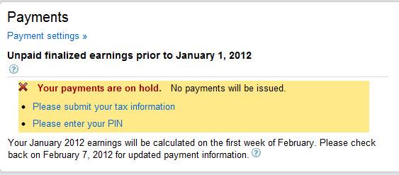 Thêm thông tin thuế vào Google AdSense
