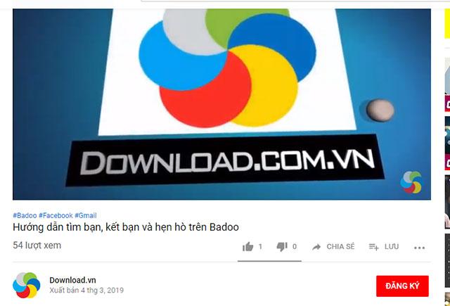 Giao diện xem video trên Youtube