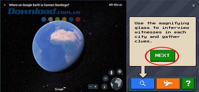 Hướng dẫn chơi game Carmen Sandiego treen Google Earth