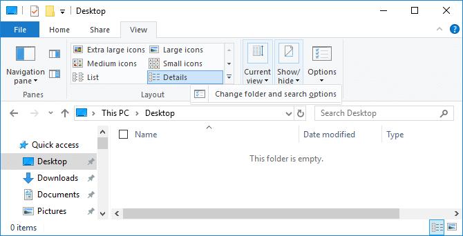 Thay đổi cài đặt trong File Explorer