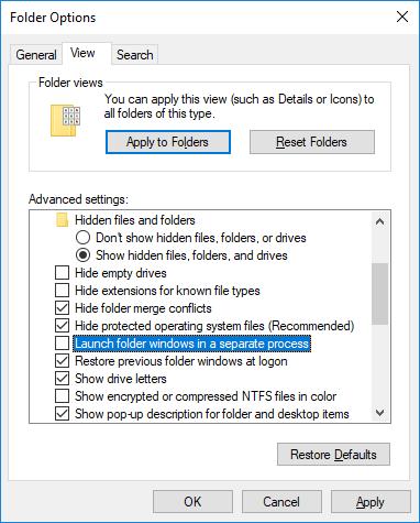 Cách đóng thư mục đang sử dụng bởi chương trình khác