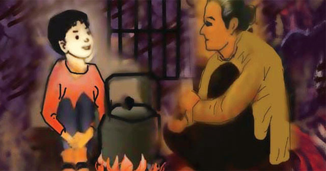Hình ảnh bếp lửa - Mẫu 2