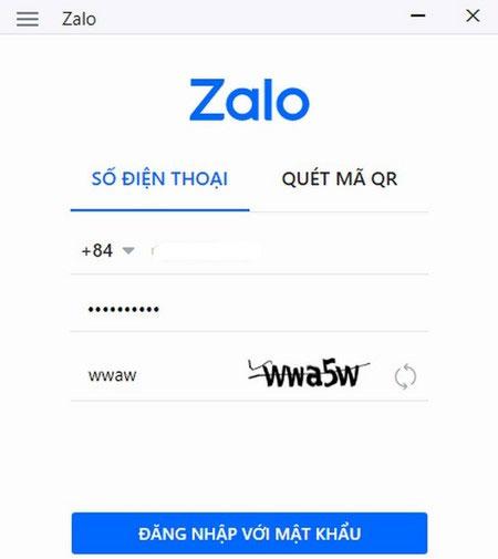 Đăng nhập tài khoản Zalo trên máy tính
