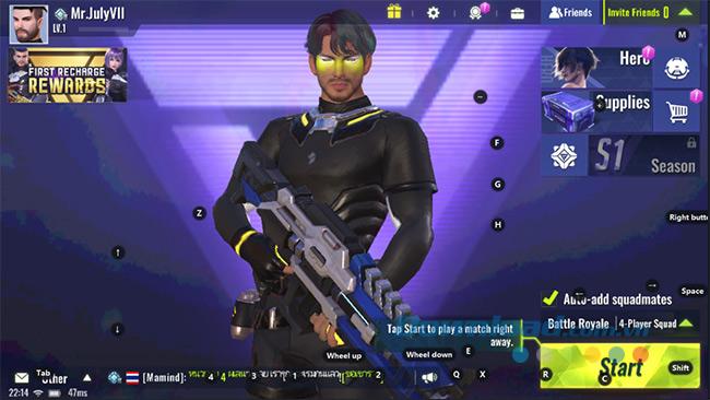 Bắt đầu vào chơi Cyber Hunter