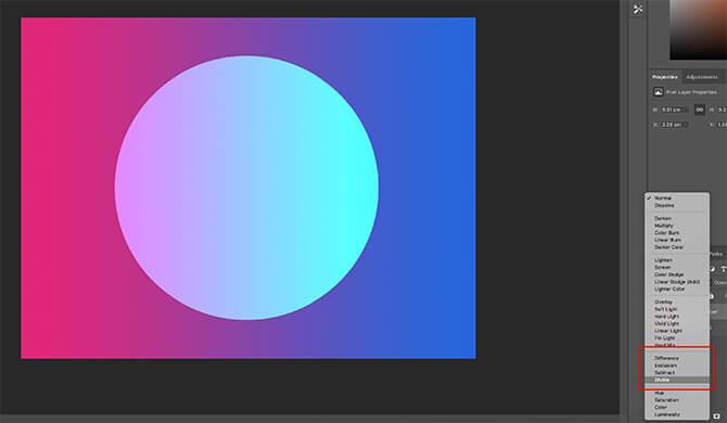 Adobe Photoshop có nhiều tùy chọn hòa trộn thú vị