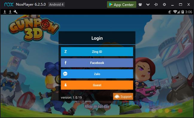 Đăng nhập chơi GunPow 3D trên giả lập