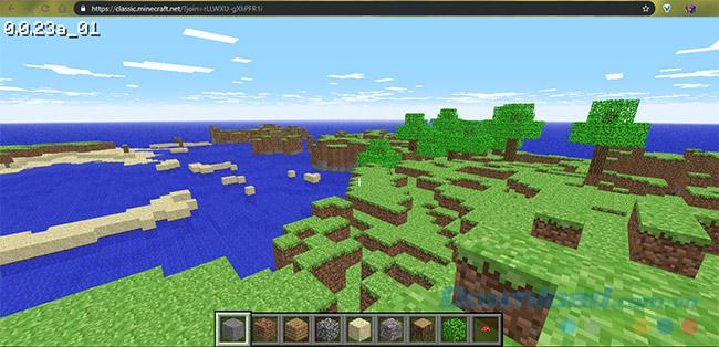 Chơi Minecraft miễn phí không cần cài đặt