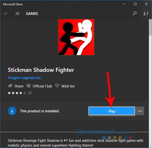 Chơi Stickman Shadow Fighter trên máy tính