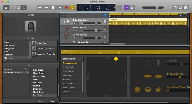 GarageBand có thiết kế chuyên nghiệp