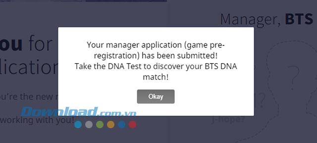 Hoàn thành đăng ký sớm game