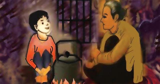 Đóng vai người cháu kể lại câu chuyện Bếp lửa