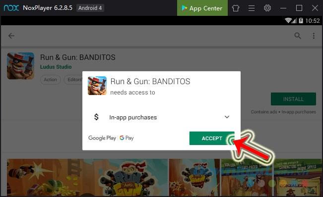Nhấn vào Install/Accept
