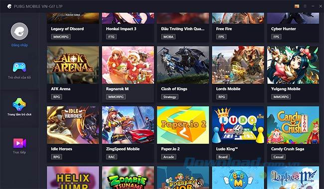 Danh sách game có trong Tencent Gaming Buddy