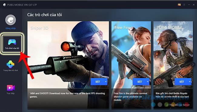 Danh sách game đã tải về trên Tencent