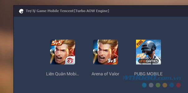 Click vào biểu tượng game PUBG Mobile VNG