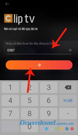 Nhập số điện thoại
