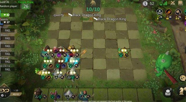 Đội hình chiến đấu dạng góc trong Auto Chess Mobile