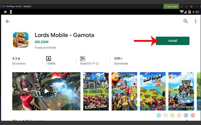 Tải và cài đặt Lords Mobile trên PC