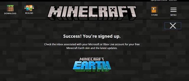Thông báo đăng ký thành công
