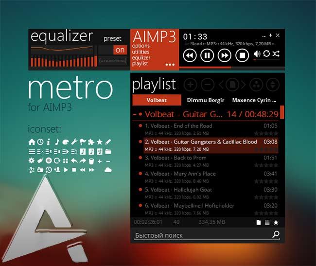 Ứng dụng nghe nhạc trên di động AIMP3