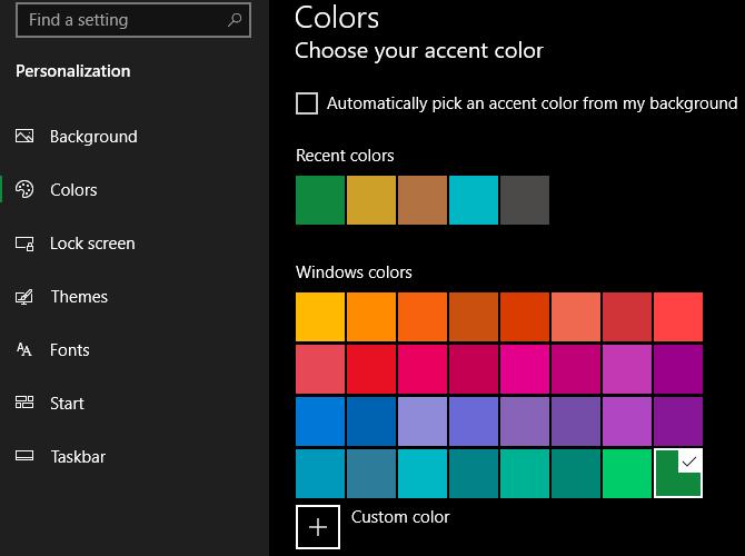 Tô màu sắc tươi mới cho Windows 10