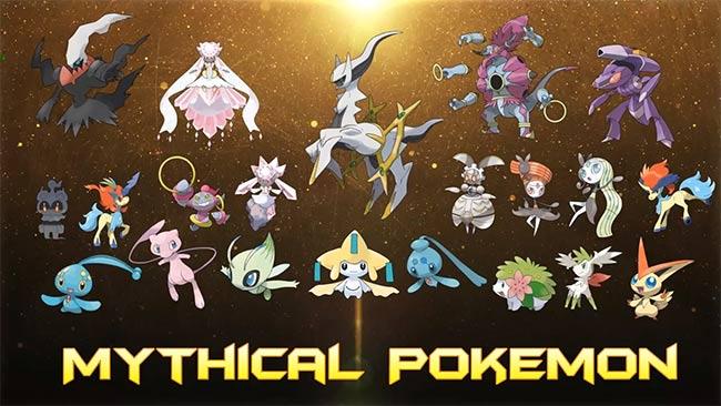 Danh sách Pokemon Mythical