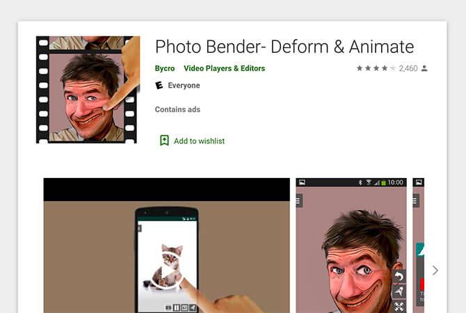 PhotoBender chế và tạo hiệu ứng động cho ảnh