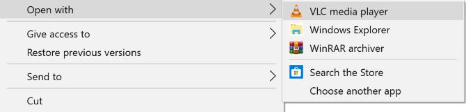 Tùy chọn chương trình mở file JAR